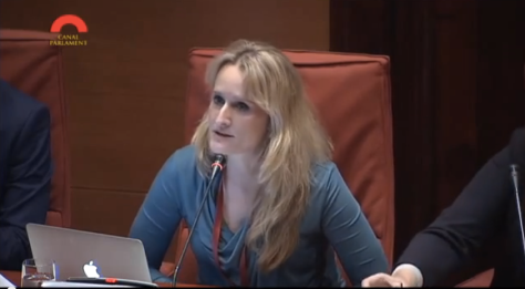 Alexa O'brien speaking at the Catalunya Parliament 12th December 2014